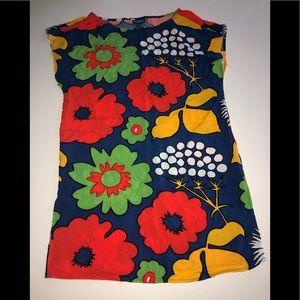 Marimekko for target Floral Dress M swim cover up